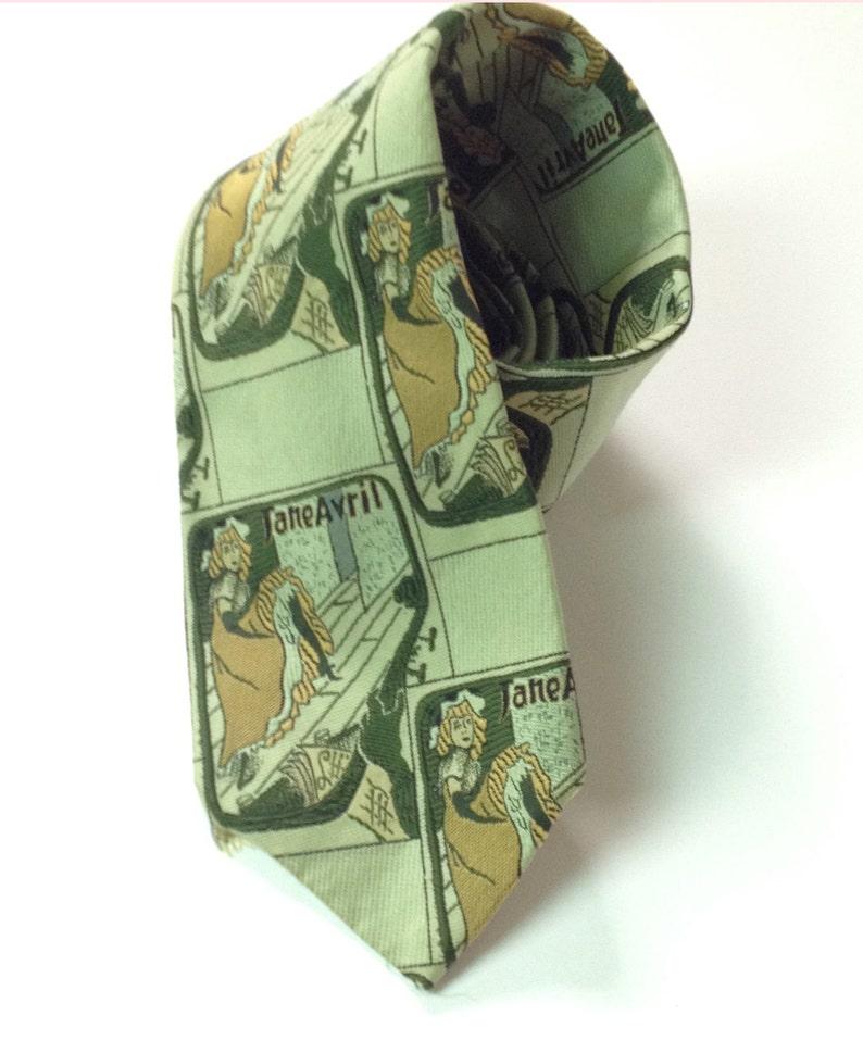 Vintage Qiana 1970s Men's Tie. Toulous Lautrec/Jane image 0