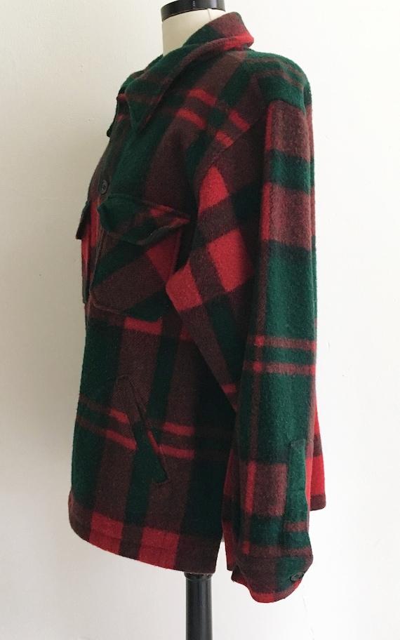 199a19e3a89c0 Vintage LL Bean Hunting Shirt. Heavy Wool. Red Green Black | Etsy