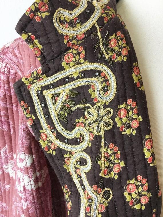 Vintage Cotton Long Quilted Coat Jacket. J. Peter… - image 8
