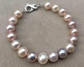 Multi Colored Pearl Bracelet