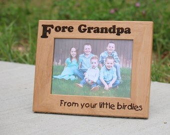 Personalized Photo Frame - Laser Engraved, Father's Day Gift, Gift for Dad