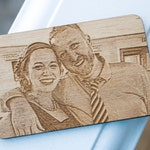 Photo Engraved Wallet Card - Father's Day Gift, Gift for Dad