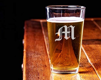 Personalized Pint Glass (Set of 4) - Laser Engraved