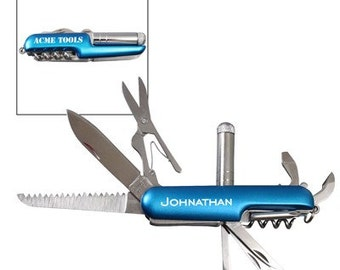Personalized Deluxe Pocket Knife - Laser Engraved, Father's Day Gift, Gift for Dad