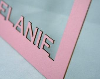 "Personalized Laser Cut 11x14"" Mat Board Cutout Frame"