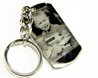 Personalized Photo Engraved Dog Tag
