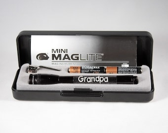 Personalized MAGLITE Gift Set - Laser Engraved, Father's Day Gift, Gift for Dad