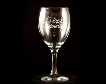 Personalized Wine Glass Set - 11.5 oz - Laser Engraved