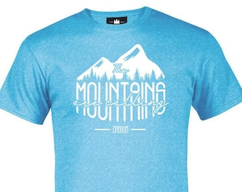 99927e5f9 Oregon The Mountains are Calling   Adult T-Shirt