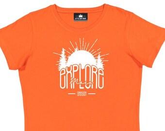 c3649fcc2 Oregon Explore More   Women's Crewneck T-Shirt