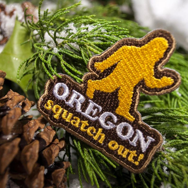ff51cc7880e494 Squatch Out Oregon Embroidered Patch | Etsy