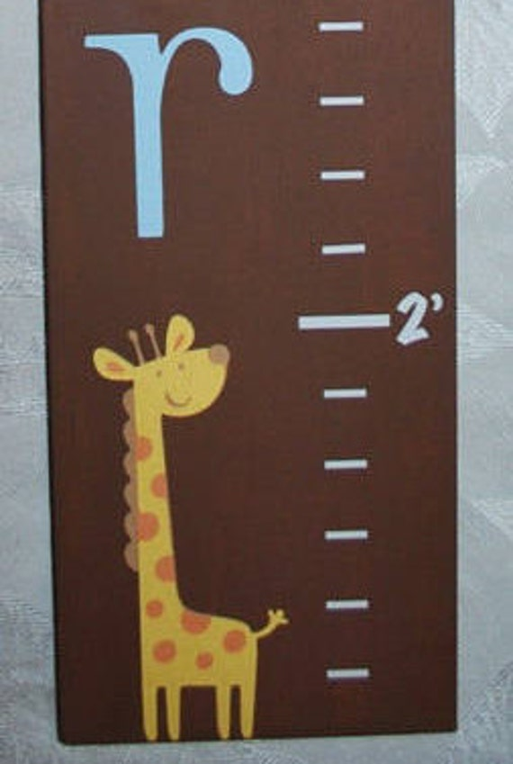 Wood Growth Chart With Jungle Theme Jungle Height Chart Etsy