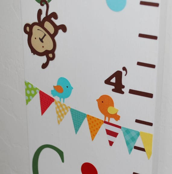 Love Grows Here Wood Growth Chart Jungle Growth Chart Etsy