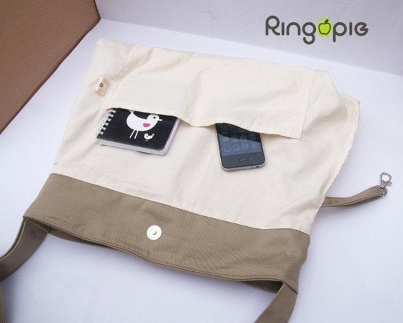 Sale 25/%-Gray Bow Pleated Bag with adjustable straptotemessenger bagwomenhandbagschool bagshoulder bagFor Her-053