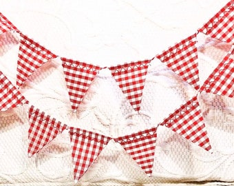 Gingham Pennants Birthday Party Decor Printable Digital Gingham Banner Kids Room Decor Bunting Gingham Pennant Flags Primary Colors