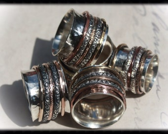Spinner Ring with 14K Gold Filled Bands