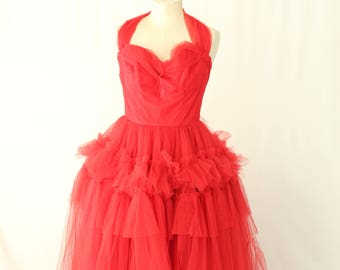 Vintage 1950s Prom Gown