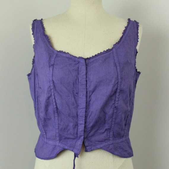 1910s Purple Antique Bra or corset cover