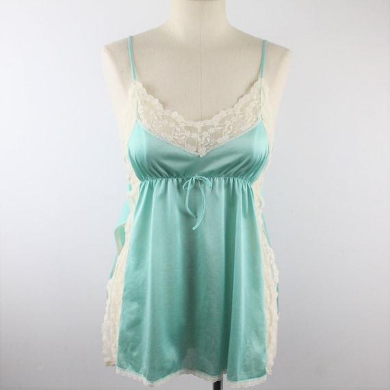 Aqua lace lingerie camisole