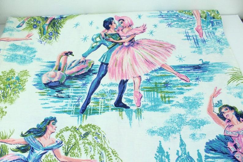 Vintage Swan Lake Fabric