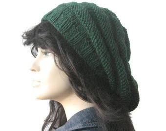 92c086decfd Green Hand Knit Hat