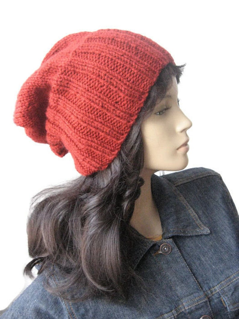ed33b52e2bc Hand Knit HatMade to Order Watchman Cap Slouchy Hat The