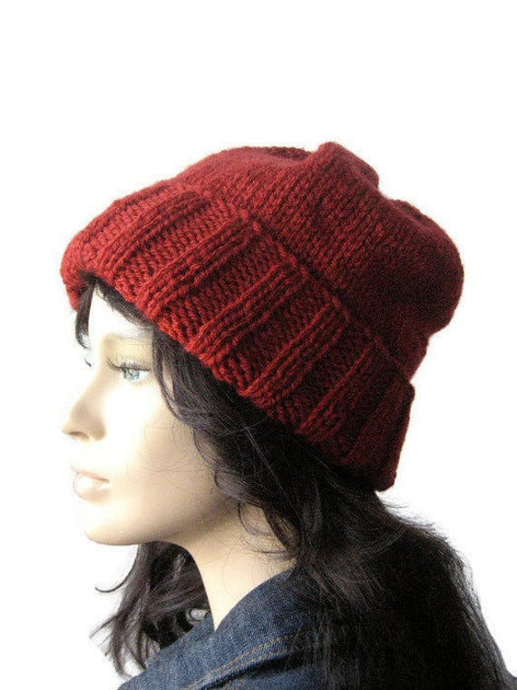 e61ffbb3e66 Hand Knit Hat Watchman Cap Slouchy Hat The Alex Hat