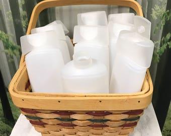 Plastic Bottles, 8 Ounce Plastic Bottles, Frosted White Plastic Bottles, Lotion Bottles, Shampoo Bottles