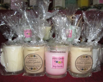 Scented Soy Candles, 3 oz. Soy Candle, Votive Jar Soy Candle, Clean Burning Soy Votive, Fresh Scent Soy Candle, Floral Scented Soy Candles