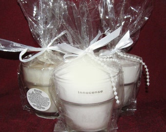 Soy Candle, Handpoured Soy Candles, 4 oz. Flower Pot Soy Candles, Innocence Scented Candle, Valentine Soy Candle