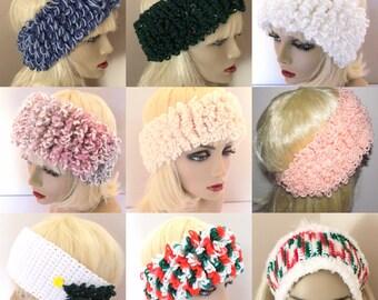 Ski Band Hats, Cute Ski Hats, Ski Hats, Ski Hat With Loops, Cream Ski Hat, Peach Ski Hat, Rose Ski Hat
