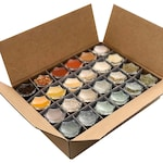 New Home & Housewarming Gift   Pantry Spice Kit: 24 Organic Spices in Hand-Stamped Hexagon Glass Spice Jars   Perfect Wedding Gift!