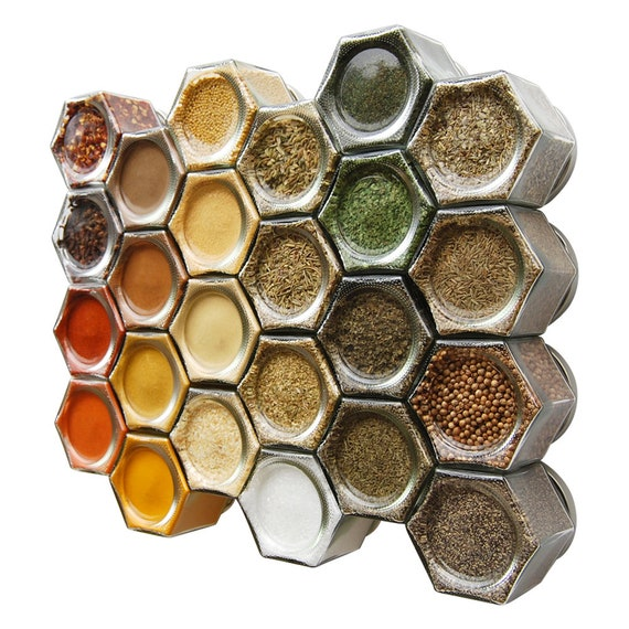 Organic Spice Rack Impressive Organic Magnetic Spice Rack For Fridge Includes 60 Pantry Etsy