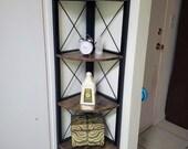 New Design Standing Shelf Plant Shefl Bookshelf Bookcase 12.21L x 12.19W x 63.01H Inches