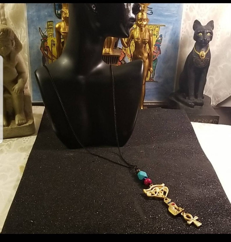 Egyptian necklace Egyptian necklace Ancient Egyptian charms necklace gift for him gift for her