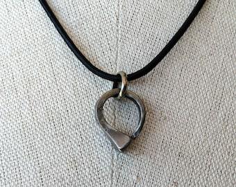 ON SALE - was 44.00 - Annie - Horseshoe nail circle pendant