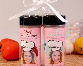 Personalized Gift Spices (Upgraded Spices) with Custom Designed Label for Your Favorite Cook or Chef