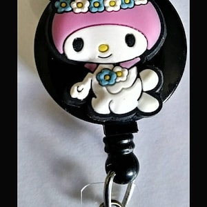 My Melody ID Badge Holder Reel Nurse High Quality Retractable Badge Holder Lanyard Gift Her Woman Office Pediatric Nurse Teacher Day Care