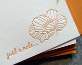 Just a Poppy- 5PK Letterpress Notecards (JP01SBX5)