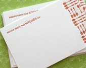 RECIPE CARD Letterpress - Flatware (RFL03S10)