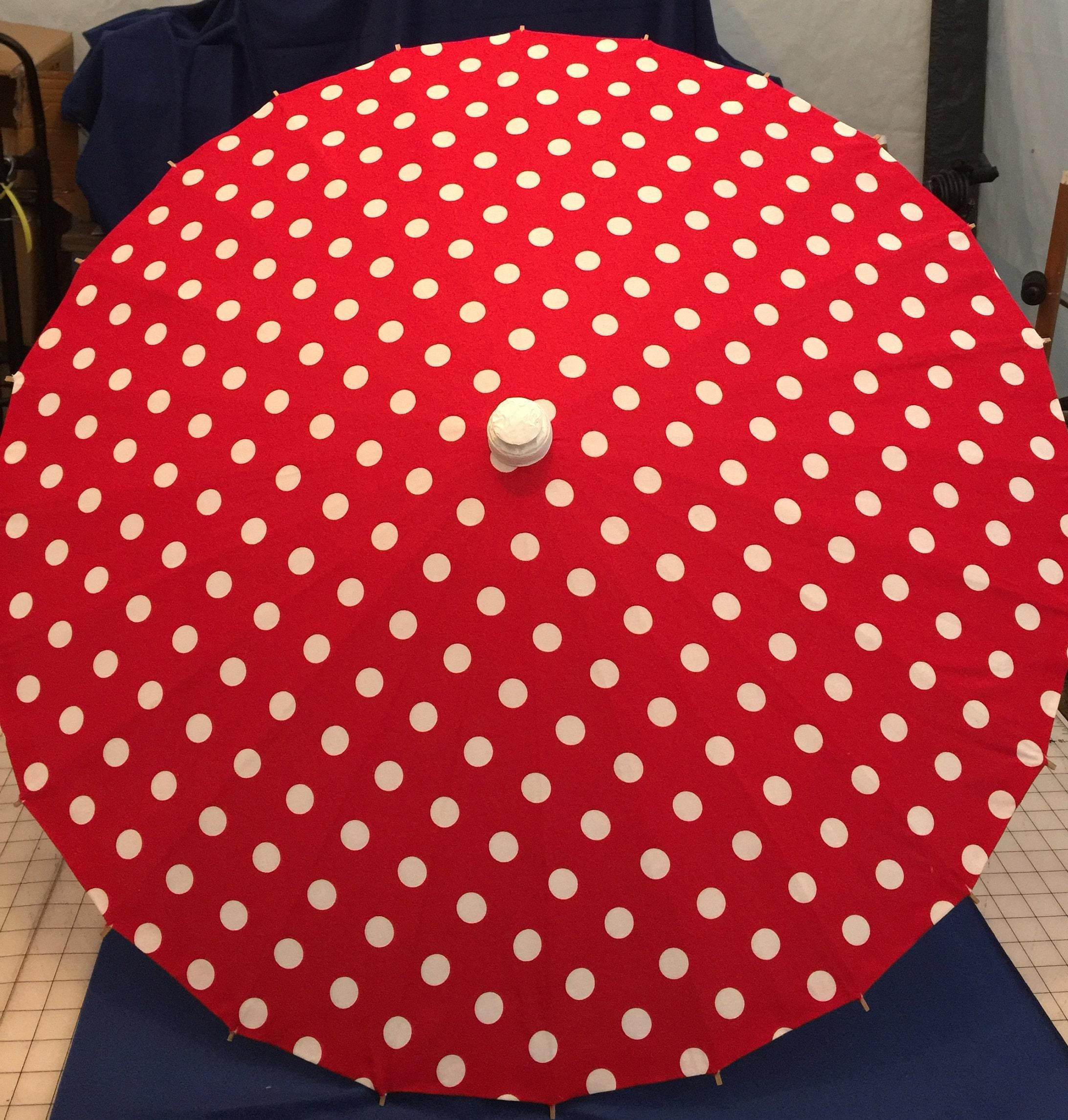 Rot mit weißen Tupfen Sonnenschirm | Etsy