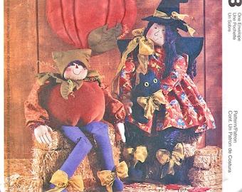 McCalls Witch Doll Pumpkin Elf Pattern