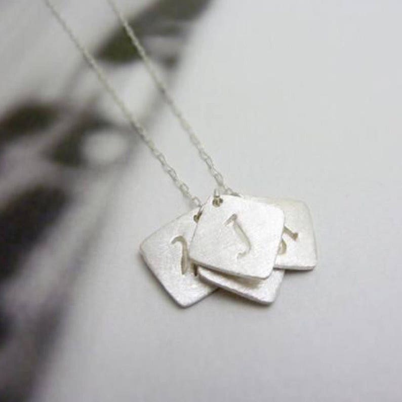 Letter Pendant Uppercase Letter Charm Necklace Customized With Love Necklace Personalized Silver Necklace Initial Charm Necklace