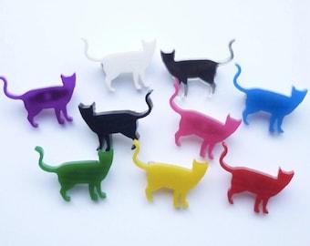 Mini Cat Standing Brooch
