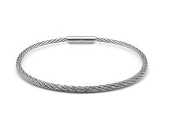 3 mm Stainless Steel Cable Wire Bracelet with Bayonet clasp