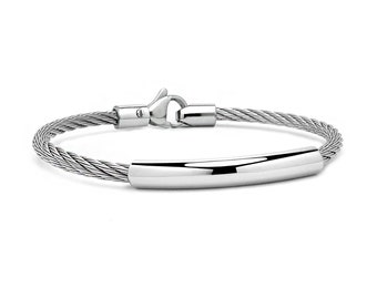3 mm Stainless Steel ID Cable Wire Bracelet
