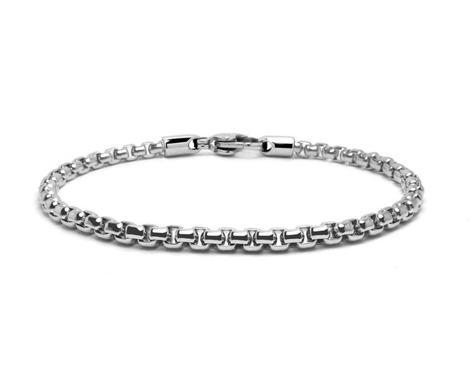 2 mm Box Link Chain Stainless Steel Bracelet