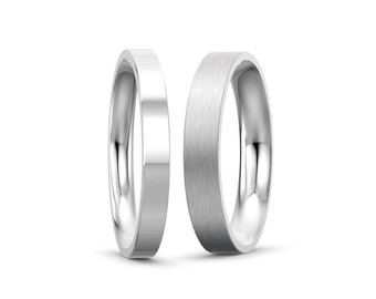 2mm, 3mm, 4mm, 5mm Stainless Steel Flat Comfort fit Wedding Ring Band by Taormina Jewelry