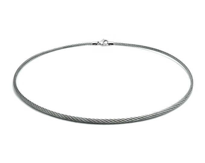 2 mm Stainless Steel Cable Wire Necklace