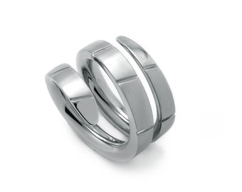 Snake Viper Ring in Stainless Steel by Taormina Jewelry